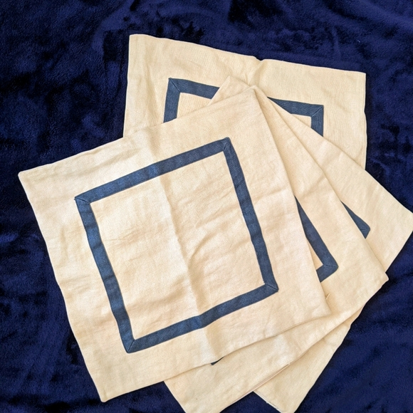 "Pottery Barn Linen Pillow Cover 20"" x 20"""